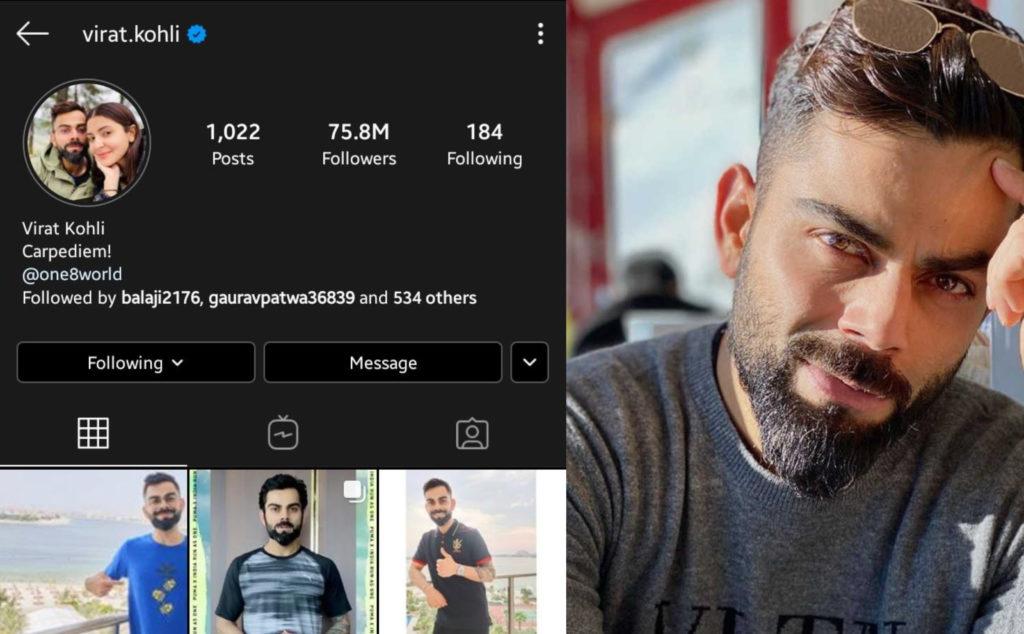 Virat Kholi: 1st Asian celebrity to cross 75 Million Instagram followers